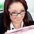 jonge · zakenvrouw · lezing · krant · kantoor - stockfoto © wavebreak_media