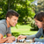 Pareja · jugando · ajedrez · parque · mujer · familia - foto stock © wavebreak_media