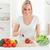 sorrindo · legumes · cozinha · mulher · mulheres - foto stock © wavebreak_media