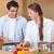 çift · pişirmek · mutfak · mutlu - stok fotoğraf © wavebreak_media