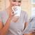 genç · kadın · yudum · kahve · okuma · gazete - stok fotoğraf © wavebreak_media