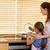 moeder · helpen · dochter · koken · weinig - stockfoto © wavebreak_media