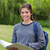 junge · Mädchen · stehen · Park · halten · Notebook · Lächeln - stock foto © wavebreak_media