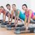 uygunluk · sınıf · adım · aerobik · egzersiz · yandan · görünüş - stok fotoğraf © wavebreak_media