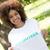női · önkéntes · park · portré · áll · boldog - stock fotó © wavebreak_media