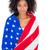 mulher · bandeira · americana · patriótico · férias · feliz · mulher · jovem - foto stock © wavebreak_media