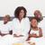 retrato · feliz · mujer · negro · mirando · cámara · familia - foto stock © wavebreak_media