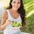 felnőtt · nő · eszik · friss · zöld · saláta - stock fotó © wavebreak_media