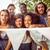gelukkig · hipsters · glimlachend · camera · muziekfestival · man - stockfoto © wavebreak_media