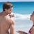barna · hajú · nap · barna · bőr · testápoló · váll · tengerpart - stock fotó © wavebreak_media