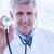 зрелый · врач · стетоскоп · устал · мужской · доктор - Сток-фото © wavebreak_media