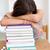 müde · schläfrig · Studium · Papier · Gesicht - stock foto © wavebreak_media