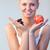 шоколадом · яблоко · Focus · красивая · женщина - Сток-фото © wavebreak_media