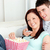 afetuoso · casal · sofá · sala · de · estar · casa - foto stock © wavebreak_media