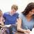jungen · Studenten · arbeiten · Zuordnung · Klassenzimmer · Frau - stock foto © wavebreak_media
