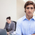 молодые · бизнесмен · коллега · ноутбук · за · компьютер - Сток-фото © wavebreak_media