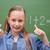 iskolás · lány · remek · iskola · diák · zöld · osztályterem - stock fotó © wavebreak_media
