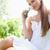 jonge · vrouw · gazon · bloem · schoonheid · zomer · groene - stockfoto © wavebreak_media