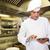 männlich · Koch · digitalen · Tablet · Küche · konzentrierter - stock foto © wavebreak_media