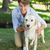 knap · glimlachend · man · poseren · labrador · park - stockfoto © wavebreak_media