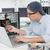 komputera · inżynier · pracy · podziale · pocieszyć · laptop - zdjęcia stock © wavebreak_media