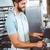 barista · kahve · hazırlık · hizmet · adam - stok fotoğraf © wavebreak_media
