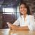 indian · vrouw · vergadering · cafe · twee - stockfoto © wavebreak_media