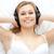kobieta · słuchanie · muzyki · bed · muzyki · domu - zdjęcia stock © wavebreak_media