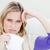 infeliz · enfermos · mujer · mirando · cámara - foto stock © wavebreak_media