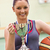 Young woman holding a trophee and a basket ball in a gymnasium stock photo © wavebreak_media