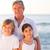 portret · dziadek · wnuki · plaży · niebo · wody - zdjęcia stock © wavebreak_media