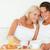 пару · еды · фрукты · кровать · домой · девушки - Сток-фото © wavebreak_media
