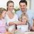 happy family preparing dough together stock photo © wavebreak_media