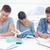 drei · Studenten · sitzen · zusammen · alle · Studie - stock foto © wavebreak_media