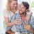 bonitinho · sorridente · casal · refeição · juntos - foto stock © wavebreak_media