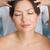 relaxed brunette getting a head massage stock photo © wavebreak_media
