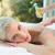 terapeuta · de · volta · massagem · mulher · jovem · saúde · centro - foto stock © wavebreak_media