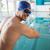 geschikt · zwemmer · zwembad · glimlachend · camera · recreatie - stockfoto © wavebreak_media