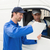 Delivery driver showing customer where to sign stock photo © wavebreak_media