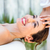 brunette receiving head massage stock photo © wavebreak_media