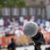 protesto · público · manifestação · microfone · foco · turva - foto stock © wellphoto