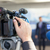 haber · konferans · basın · toplantısı · video · kamera · el · teknoloji - stok fotoğraf © wellphoto
