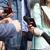 журналист · СМИ · интервью · бизнесмен · неузнаваемый - Сток-фото © wellphoto