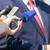 СМИ · интервью · прессы · микрофона · Дать - Сток-фото © wellphoto