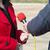 メディア · インタビュー · キーを押します · マイク · 書く - ストックフォト © wellphoto