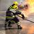 brandweerman · instructies · team · vrouw · vergadering · praten - stockfoto © wellphoto