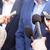 los · medios · de · comunicación · entrevista · femenino · reportero · micrófono - foto stock © wellphoto