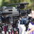 press conference television camera in focus against blurred bac stock photo © wellphoto