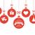hanging baubles with christmas symbols stock photo © wenani