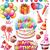Happy birthday set stock photo © Wikki